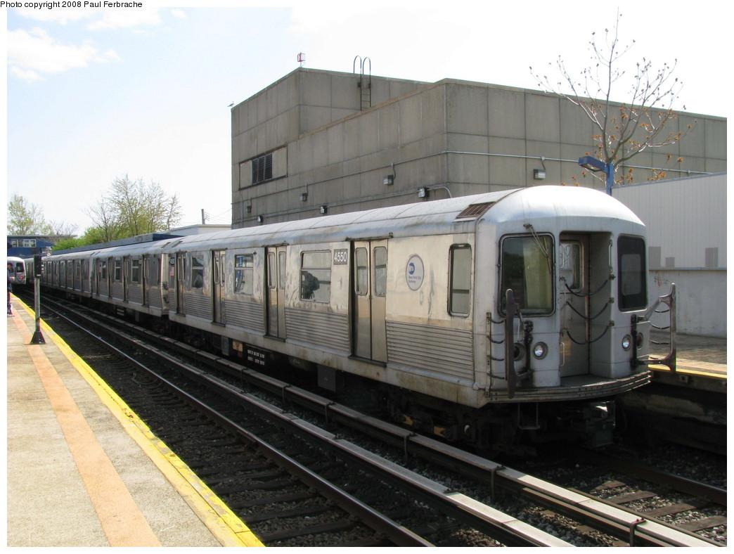 (206k, 1044x788)<br><b>Country:</b> United States<br><b>City:</b> New York<br><b>System:</b> New York City Transit<br><b>Line:</b> IND Rockaway<br><b>Location:</b> Broad Channel <br><b>Route:</b> A<br><b>Car:</b> R-42 (St. Louis, 1969-1970)  4550 <br><b>Photo by:</b> Paul Ferbrache<br><b>Date:</b> 4/30/2008<br><b>Viewed (this week/total):</b> 0 / 1443