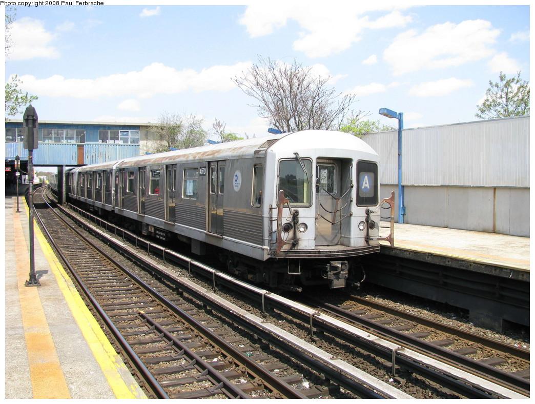 (276k, 1044x788)<br><b>Country:</b> United States<br><b>City:</b> New York<br><b>System:</b> New York City Transit<br><b>Line:</b> IND Rockaway<br><b>Location:</b> Broad Channel <br><b>Route:</b> A<br><b>Car:</b> R-42 (St. Louis, 1969-1970)  4570 <br><b>Photo by:</b> Paul Ferbrache<br><b>Date:</b> 4/30/2008<br><b>Viewed (this week/total):</b> 4 / 1757
