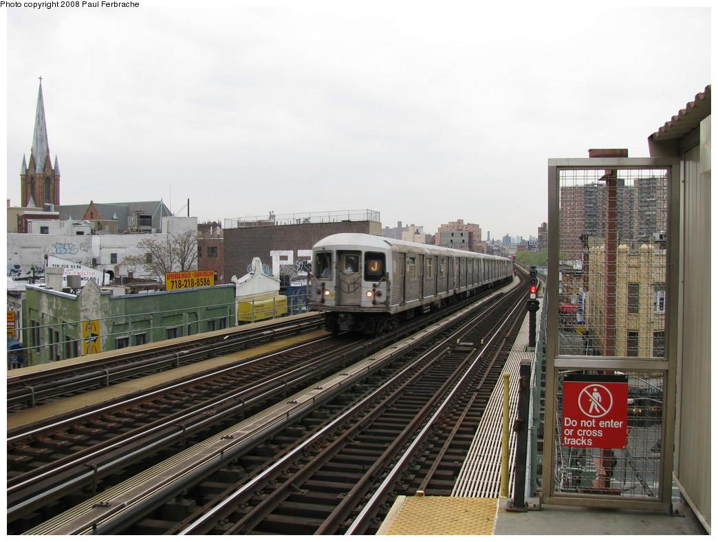 (234k, 1044x788)<br><b>Country:</b> United States<br><b>City:</b> New York<br><b>System:</b> New York City Transit<br><b>Line:</b> BMT Nassau Street/Jamaica Line<br><b>Location:</b> Flushing Avenue <br><b>Route:</b> J<br><b>Car:</b> R-42 (St. Louis, 1969-1970)  4701 <br><b>Photo by:</b> Paul Ferbrache<br><b>Date:</b> 5/1/2008<br><b>Viewed (this week/total):</b> 2 / 1637