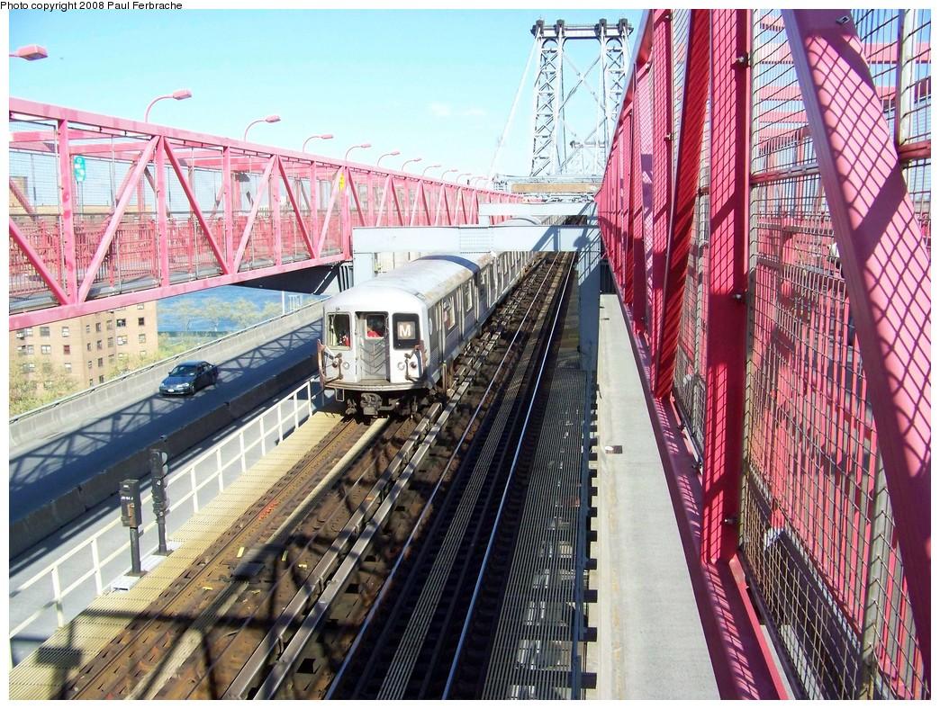 (331k, 1044x788)<br><b>Country:</b> United States<br><b>City:</b> New York<br><b>System:</b> New York City Transit<br><b>Line:</b> BMT Nassau Street/Jamaica Line<br><b>Location:</b> Williamsburg Bridge<br><b>Route:</b> M<br><b>Car:</b> R-42 (St. Louis, 1969-1970)  4803 <br><b>Photo by:</b> Paul Ferbrache<br><b>Date:</b> 4/29/2008<br><b>Viewed (this week/total):</b> 0 / 1287