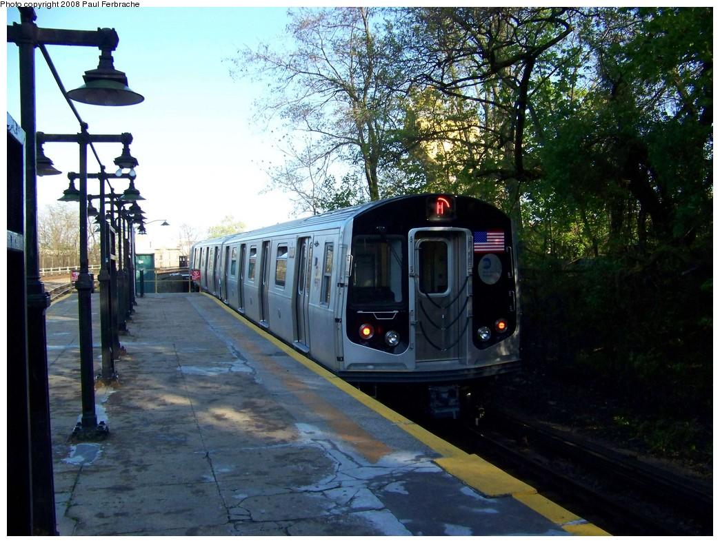 (265k, 1044x788)<br><b>Country:</b> United States<br><b>City:</b> New York<br><b>System:</b> New York City Transit<br><b>Line:</b> BMT West End Line<br><b>Location:</b> 9th Avenue <br><b>Route:</b> M<br><b>Car:</b> R-160A-1 (Alstom, 2005-2008, 4 car sets)  8484 <br><b>Photo by:</b> Paul Ferbrache<br><b>Date:</b> 4/29/2008<br><b>Viewed (this week/total):</b> 0 / 2255