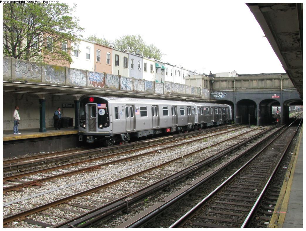 (291k, 1044x788)<br><b>Country:</b> United States<br><b>City:</b> New York<br><b>System:</b> New York City Transit<br><b>Line:</b> BMT Sea Beach Line<br><b>Location:</b> 86th Street <br><b>Route:</b> N<br><b>Car:</b> R-160B (Kawasaki, 2005-2008)  8937 <br><b>Photo by:</b> Paul Ferbrache<br><b>Date:</b> 5/2/2008<br><b>Viewed (this week/total):</b> 0 / 1418