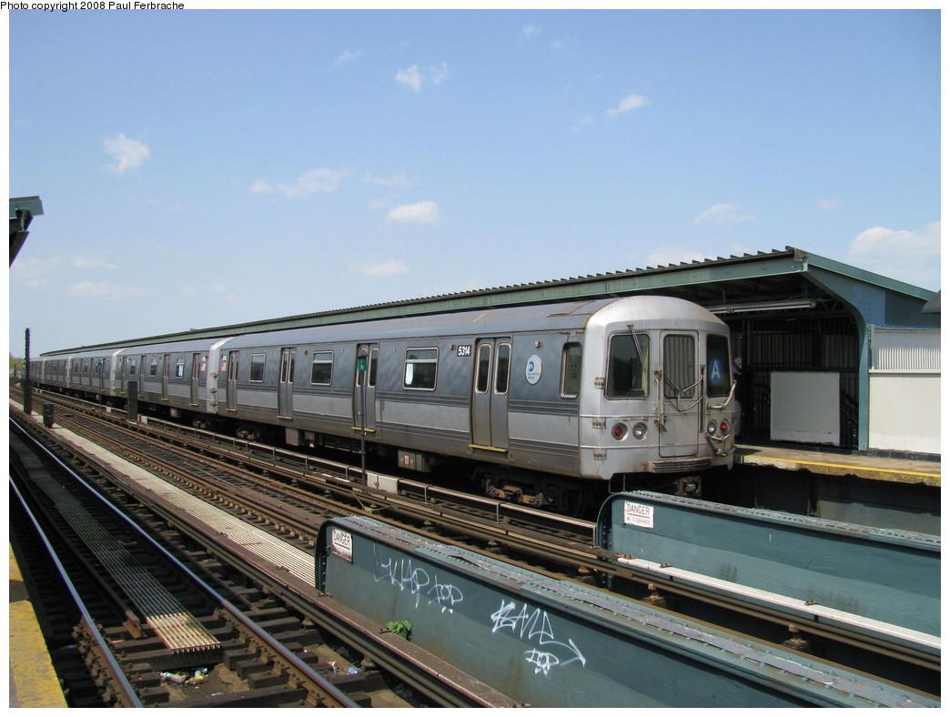 (208k, 1044x788)<br><b>Country:</b> United States<br><b>City:</b> New York<br><b>System:</b> New York City Transit<br><b>Line:</b> IND Fulton Street Line<br><b>Location:</b> Rockaway Boulevard <br><b>Route:</b> A<br><b>Car:</b> R-44 (St. Louis, 1971-73) 5314 <br><b>Photo by:</b> Paul Ferbrache<br><b>Date:</b> 4/30/2008<br><b>Viewed (this week/total):</b> 0 / 1163