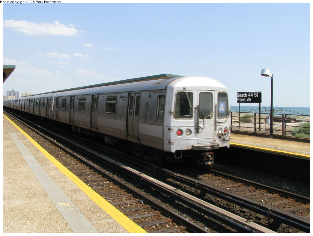 (201k, 1044x788)<br><b>Country:</b> United States<br><b>City:</b> New York<br><b>System:</b> New York City Transit<br><b>Line:</b> IND Rockaway<br><b>Location:</b> Beach 44th Street/Frank Avenue <br><b>Route:</b> A<br><b>Car:</b> R-44 (St. Louis, 1971-73) 5466 <br><b>Photo by:</b> Paul Ferbrache<br><b>Date:</b> 4/30/2008<br><b>Viewed (this week/total):</b> 0 / 1615