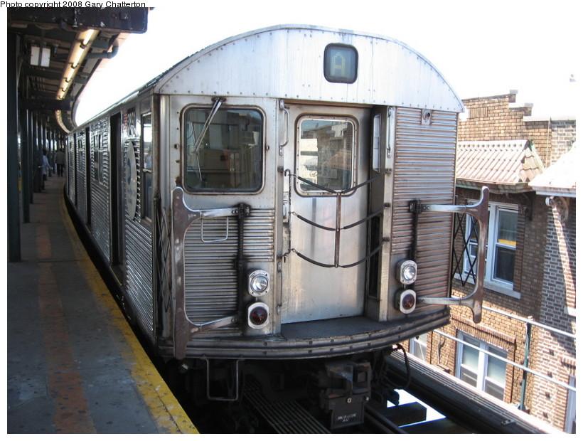 (151k, 820x620)<br><b>Country:</b> United States<br><b>City:</b> New York<br><b>System:</b> New York City Transit<br><b>Line:</b> IND Fulton Street Line<br><b>Location:</b> Lefferts Boulevard <br><b>Route:</b> A<br><b>Car:</b> R-32 (Budd, 1964)  3891 <br><b>Photo by:</b> Gary Chatterton<br><b>Date:</b> 5/28/2008<br><b>Viewed (this week/total):</b> 1 / 1148