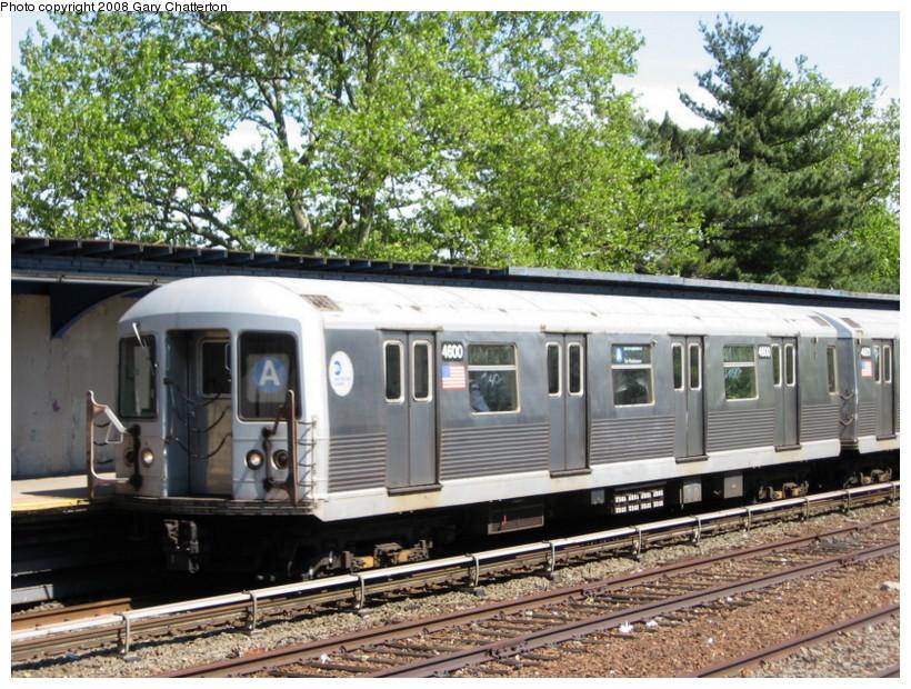 (208k, 820x620)<br><b>Country:</b> United States<br><b>City:</b> New York<br><b>System:</b> New York City Transit<br><b>Line:</b> IND Rockaway<br><b>Location:</b> Aqueduct/North Conduit Avenue <br><b>Route:</b> A<br><b>Car:</b> R-42 (St. Louis, 1969-1970)  4600 <br><b>Photo by:</b> Gary Chatterton<br><b>Date:</b> 5/28/2008<br><b>Viewed (this week/total):</b> 0 / 1856