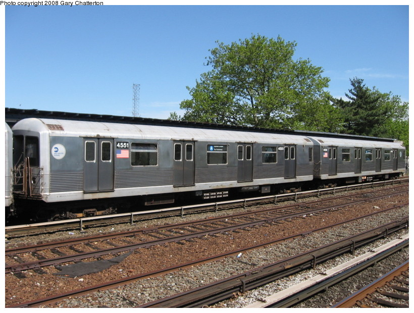 (179k, 820x620)<br><b>Country:</b> United States<br><b>City:</b> New York<br><b>System:</b> New York City Transit<br><b>Line:</b> IND Rockaway<br><b>Location:</b> Aqueduct/North Conduit Avenue <br><b>Route:</b> A<br><b>Car:</b> R-42 (St. Louis, 1969-1970)  4551 <br><b>Photo by:</b> Gary Chatterton<br><b>Date:</b> 5/28/2008<br><b>Viewed (this week/total):</b> 0 / 1414