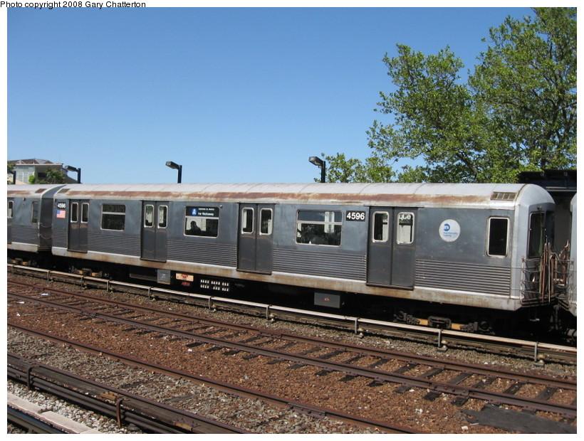 (173k, 820x620)<br><b>Country:</b> United States<br><b>City:</b> New York<br><b>System:</b> New York City Transit<br><b>Line:</b> IND Rockaway<br><b>Location:</b> Aqueduct/North Conduit Avenue <br><b>Route:</b> A<br><b>Car:</b> R-42 (St. Louis, 1969-1970)  4596 <br><b>Photo by:</b> Gary Chatterton<br><b>Date:</b> 5/28/2008<br><b>Viewed (this week/total):</b> 0 / 1478