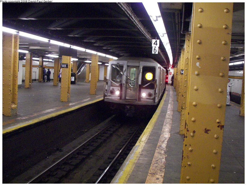 (312k, 1044x788)<br><b>Country:</b> United States<br><b>City:</b> New York<br><b>System:</b> New York City Transit<br><b>Line:</b> IND Concourse Line<br><b>Location:</b> 145th Street <br><b>Route:</b> B<br><b>Car:</b> R-40 (St. Louis, 1968)  4449 <br><b>Photo by:</b> David-Paul Gerber<br><b>Date:</b> 6/5/2008<br><b>Viewed (this week/total):</b> 2 / 1308