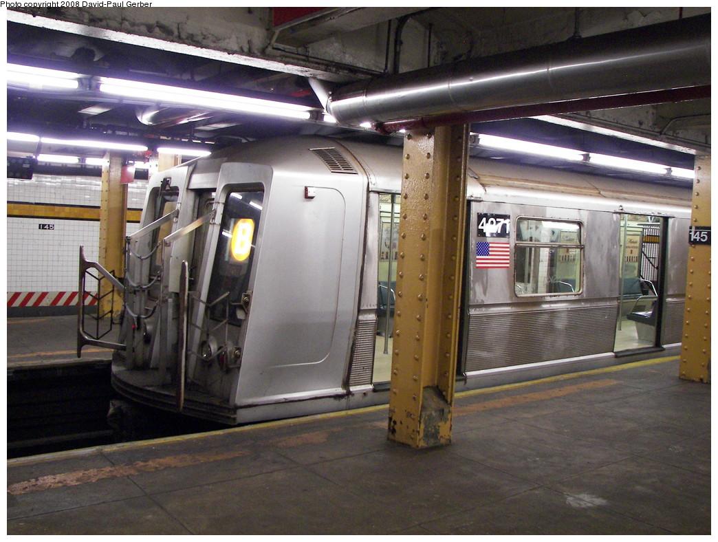 (290k, 1044x788)<br><b>Country:</b> United States<br><b>City:</b> New York<br><b>System:</b> New York City Transit<br><b>Line:</b> IND Concourse Line<br><b>Location:</b> 145th Street <br><b>Route:</b> B<br><b>Car:</b> R-40 (St. Louis, 1968)  4271 <br><b>Photo by:</b> David-Paul Gerber<br><b>Date:</b> 6/5/2008<br><b>Viewed (this week/total):</b> 0 / 1126