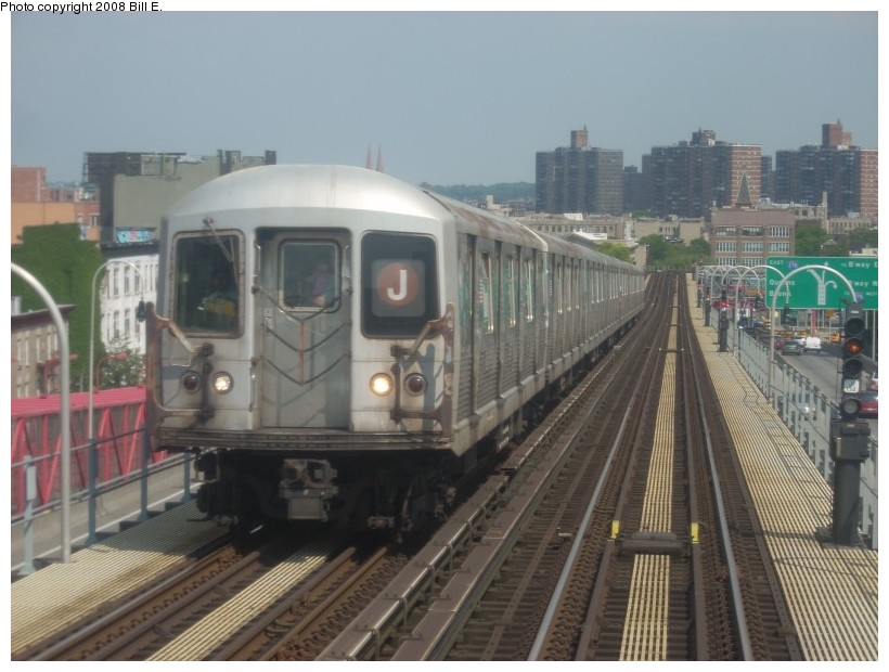 (154k, 820x620)<br><b>Country:</b> United States<br><b>City:</b> New York<br><b>System:</b> New York City Transit<br><b>Line:</b> BMT Nassau Street/Jamaica Line<br><b>Location:</b> Williamsburg Bridge<br><b>Route:</b> J<br><b>Car:</b> R-42 (St. Louis, 1969-1970)   <br><b>Photo by:</b> Bill E.<br><b>Date:</b> 6/1/2008<br><b>Viewed (this week/total):</b> 0 / 1646