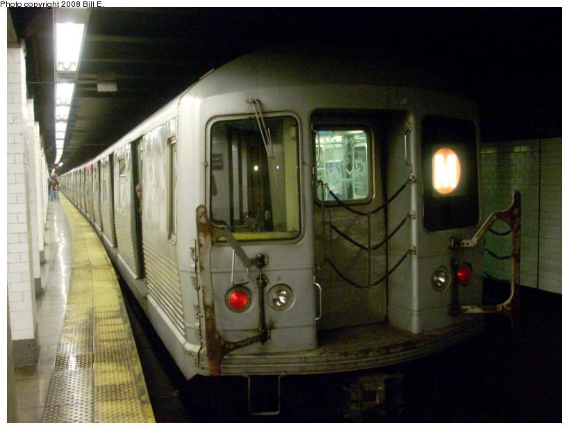 (162k, 819x619)<br><b>Country:</b> United States<br><b>City:</b> New York<br><b>System:</b> New York City Transit<br><b>Line:</b> BMT Nassau Street/Jamaica Line<br><b>Location:</b> Canal Street <br><b>Route:</b> M<br><b>Car:</b> R-42 (St. Louis, 1969-1970)  4597 <br><b>Photo by:</b> Bill E.<br><b>Date:</b> 5/27/2008<br><b>Viewed (this week/total):</b> 1 / 1954