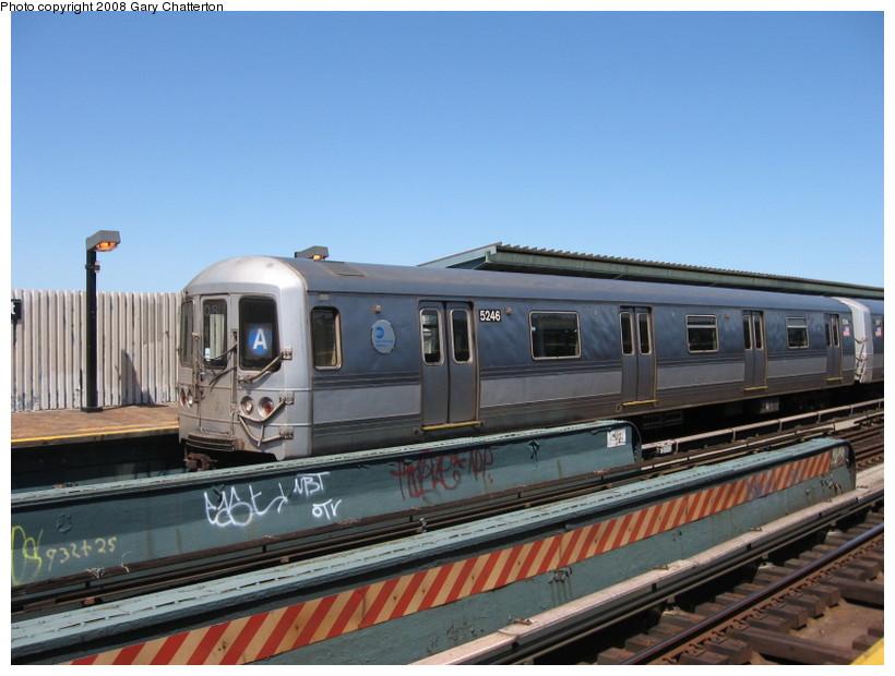 (126k, 820x620)<br><b>Country:</b> United States<br><b>City:</b> New York<br><b>System:</b> New York City Transit<br><b>Line:</b> IND Fulton Street Line<br><b>Location:</b> 80th Street/Hudson Street <br><b>Route:</b> A<br><b>Car:</b> R-44 (St. Louis, 1971-73) 5246 <br><b>Photo by:</b> Gary Chatterton<br><b>Date:</b> 5/28/2008<br><b>Viewed (this week/total):</b> 5 / 1569