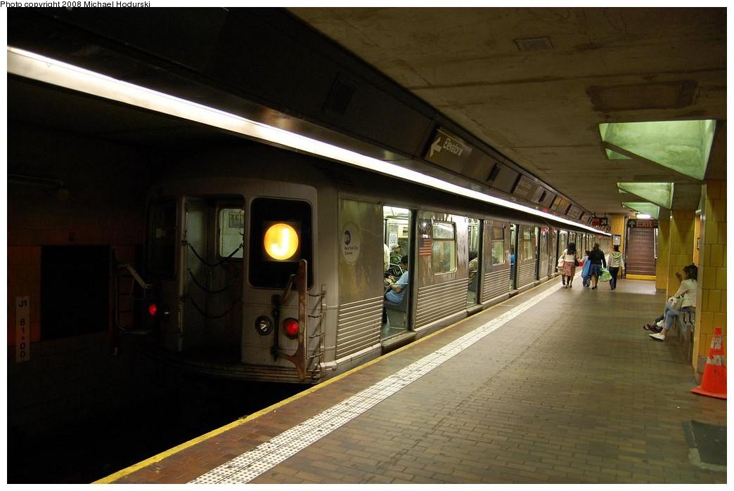 (191k, 1044x699)<br><b>Country:</b> United States<br><b>City:</b> New York<br><b>System:</b> New York City Transit<br><b>Line:</b> BMT Nassau Street/Jamaica Line<br><b>Location:</b> Jamaica Center/Parsons-Archer <br><b>Route:</b> J<br><b>Car:</b> R-42 (St. Louis, 1969-1970)  4636 <br><b>Photo by:</b> Michael Hodurski<br><b>Date:</b> 5/3/2008<br><b>Viewed (this week/total):</b> 3 / 1657