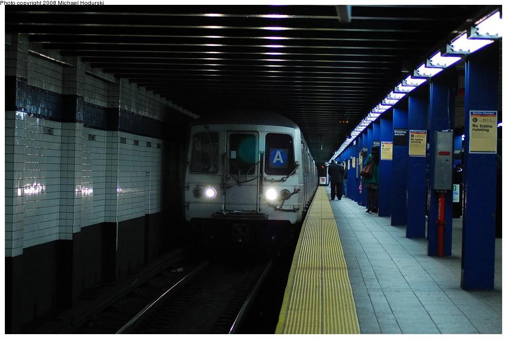 (194k, 1044x699)<br><b>Country:</b> United States<br><b>City:</b> New York<br><b>System:</b> New York City Transit<br><b>Line:</b> IND Fulton Street Line<br><b>Location:</b> Broadway/East New York (Broadway Junction) <br><b>Route:</b> A<br><b>Car:</b> R-44 (St. Louis, 1971-73) 5348 <br><b>Photo by:</b> Michael Hodurski<br><b>Date:</b> 5/3/2008<br><b>Viewed (this week/total):</b> 3 / 2364