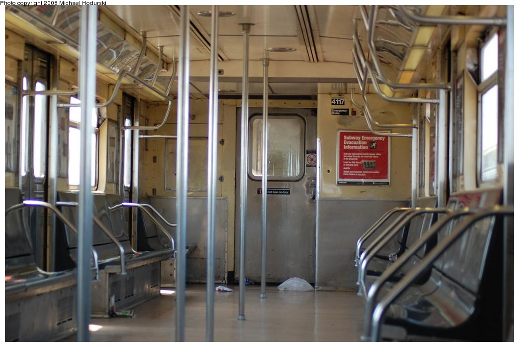 (192k, 1044x699)<br><b>Country:</b> United States<br><b>City:</b> New York<br><b>System:</b> New York City Transit<br><b>Route:</b> A<br><b>Car:</b> R-38 (St. Louis, 1966-1967)  4117 <br><b>Photo by:</b> Michael Hodurski<br><b>Date:</b> 5/3/2008<br><b>Viewed (this week/total):</b> 1 / 1884