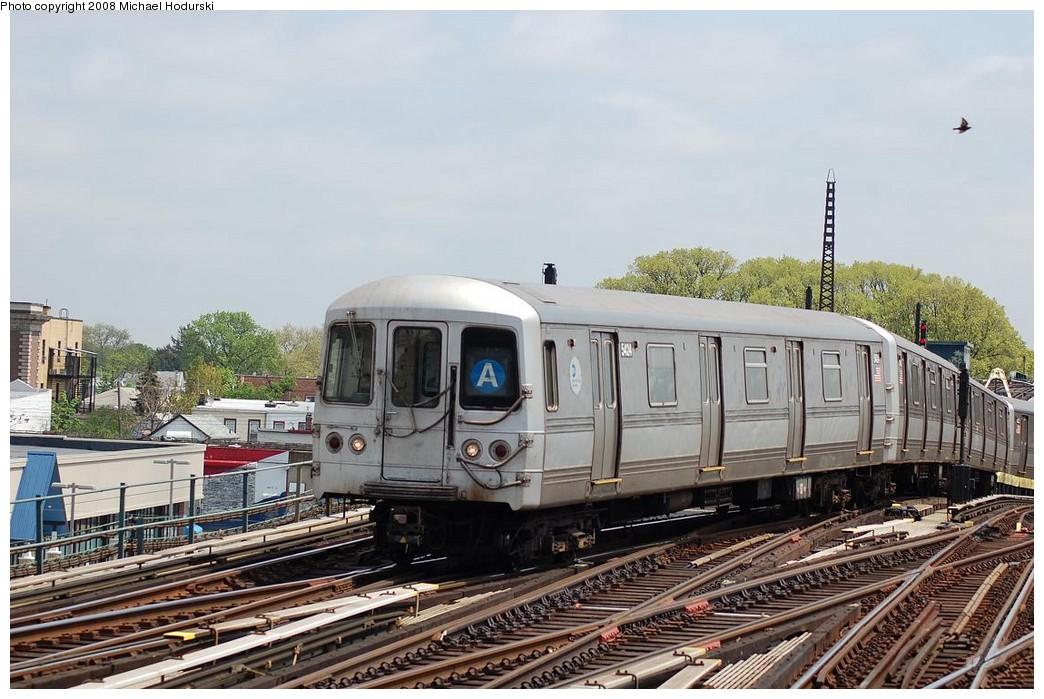 (234k, 1044x699)<br><b>Country:</b> United States<br><b>City:</b> New York<br><b>System:</b> New York City Transit<br><b>Line:</b> IND Fulton Street Line<br><b>Location:</b> Rockaway Boulevard <br><b>Route:</b> A<br><b>Car:</b> R-44 (St. Louis, 1971-73) 5424 <br><b>Photo by:</b> Michael Hodurski<br><b>Date:</b> 5/3/2008<br><b>Viewed (this week/total):</b> 1 / 1064