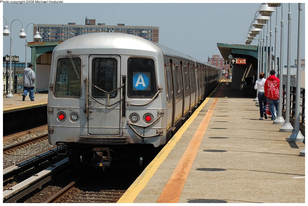 (259k, 1044x699)<br><b>Country:</b> United States<br><b>City:</b> New York<br><b>System:</b> New York City Transit<br><b>Line:</b> IND Rockaway<br><b>Location:</b> Beach 105th Street/Seaside <br><b>Route:</b> A<br><b>Car:</b> R-44 (St. Louis, 1971-73) 5446 <br><b>Photo by:</b> Michael Hodurski<br><b>Date:</b> 5/3/2008<br><b>Viewed (this week/total):</b> 4 / 1965
