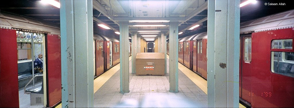 (133k, 1024x378)<br><b>Country:</b> United States<br><b>City:</b> New York<br><b>System:</b> New York City Transit<br><b>Line:</b> IRT Flushing Line<br><b>Location:</b> Main Street/Flushing <br><b>Route:</b> 7<br><b>Car:</b> R-36 World's Fair (St. Louis, 1963-64)  <br><b>Photo by:</b> Salaam Allah<br><b>Date:</b> 11/1/1999<br><b>Viewed (this week/total):</b> 4 / 3338