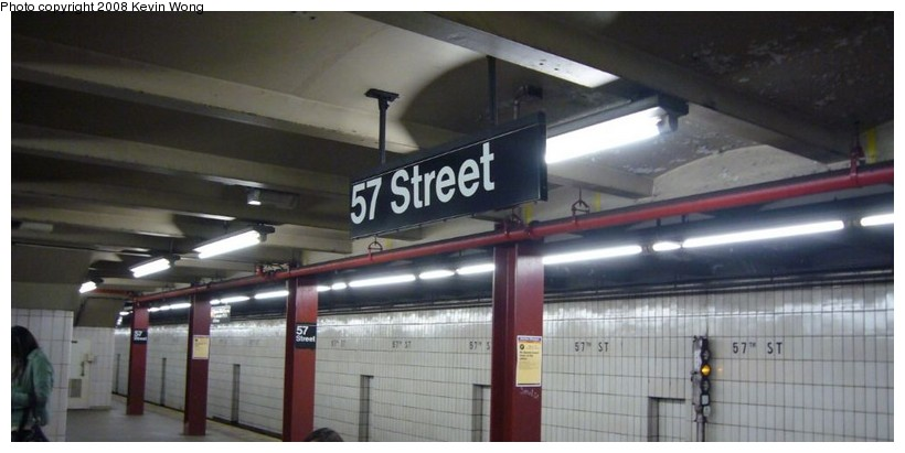 (73k, 820x411)<br><b>Country:</b> United States<br><b>City:</b> New York<br><b>System:</b> New York City Transit<br><b>Line:</b> IND 6th Avenue Line<br><b>Location:</b> 57th Street <br><b>Photo by:</b> Kevin Wong<br><b>Date:</b> 3/6/2008<br><b>Notes:</b> Platform view.<br><b>Viewed (this week/total):</b> 2 / 1712