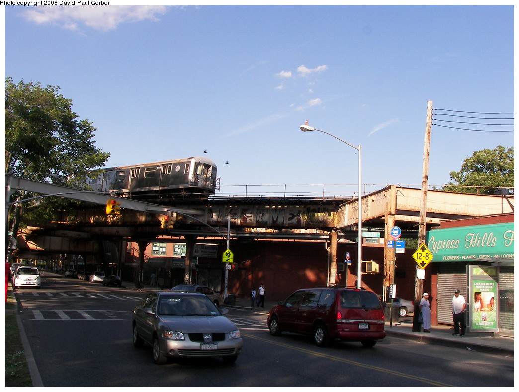 (269k, 1044x788)<br><b>Country:</b> United States<br><b>City:</b> New York<br><b>System:</b> New York City Transit<br><b>Line:</b> BMT Nassau Street/Jamaica Line<br><b>Location:</b> Cypress Hills <br><b>Route:</b> J<br><b>Car:</b> R-42 (St. Louis, 1969-1970)  4713 <br><b>Photo by:</b> David-Paul Gerber<br><b>Date:</b> 6/11/2008<br><b>Viewed (this week/total):</b> 3 / 2057
