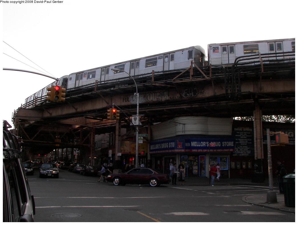 (218k, 1044x788)<br><b>Country:</b> United States<br><b>City:</b> New York<br><b>System:</b> New York City Transit<br><b>Line:</b> BMT Nassau Street/Jamaica Line<br><b>Location:</b> Crescent Street <br><b>Route:</b> J<br><b>Car:</b> R-42 (St. Louis, 1969-1970)  4782 <br><b>Photo by:</b> David-Paul Gerber<br><b>Date:</b> 6/11/2008<br><b>Viewed (this week/total):</b> 4 / 3106