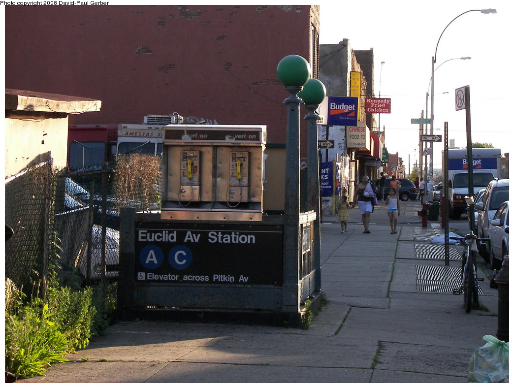 (300k, 1044x788)<br><b>Country:</b> United States<br><b>City:</b> New York<br><b>System:</b> New York City Transit<br><b>Line:</b> IND Fulton Street Line<br><b>Location:</b> Euclid Avenue <br><b>Photo by:</b> David-Paul Gerber<br><b>Date:</b> 6/11/2008<br><b>Notes:</b> Station entrance.<br><b>Viewed (this week/total):</b> 0 / 2353