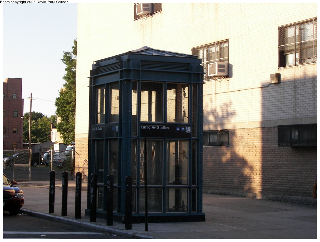 (265k, 1044x788)<br><b>Country:</b> United States<br><b>City:</b> New York<br><b>System:</b> New York City Transit<br><b>Line:</b> IND Fulton Street Line<br><b>Location:</b> Euclid Avenue <br><b>Photo by:</b> David-Paul Gerber<br><b>Date:</b> 6/11/2008<br><b>Notes:</b> Station entrance- elevator.<br><b>Viewed (this week/total):</b> 0 / 1607
