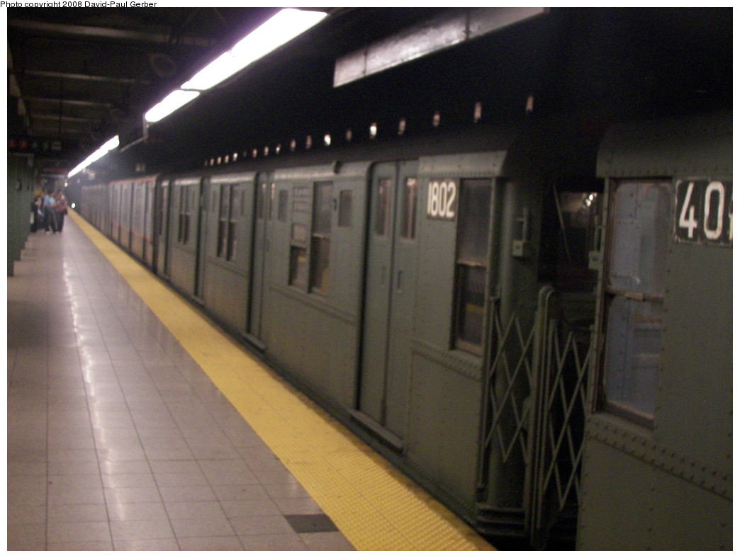 (232k, 1044x788)<br><b>Country:</b> United States<br><b>City:</b> New York<br><b>System:</b> New York City Transit<br><b>Line:</b> BMT 4th Avenue<br><b>Location:</b> Pacific Street <br><b>Route:</b> Fan Trip<br><b>Car:</b> R-9 (Pressed Steel, 1940)  1802 <br><b>Photo by:</b> David-Paul Gerber<br><b>Date:</b> 6/15/2008<br><b>Viewed (this week/total):</b> 4 / 1788