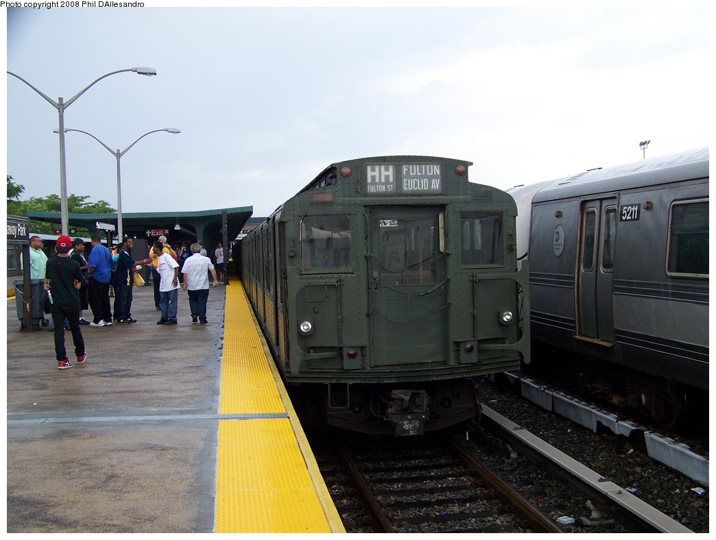 (186k, 1044x788)<br><b>Country:</b> United States<br><b>City:</b> New York<br><b>System:</b> New York City Transit<br><b>Line:</b> IND Rockaway<br><b>Location:</b> Rockaway Park/Beach 116th Street <br><b>Route:</b> Fan Trip<br><b>Car:</b> R-1 (American Car & Foundry, 1930-1931) 100 <br><b>Photo by:</b> Philip D'Allesandro<br><b>Date:</b> 6/15/2008<br><b>Viewed (this week/total):</b> 0 / 2249