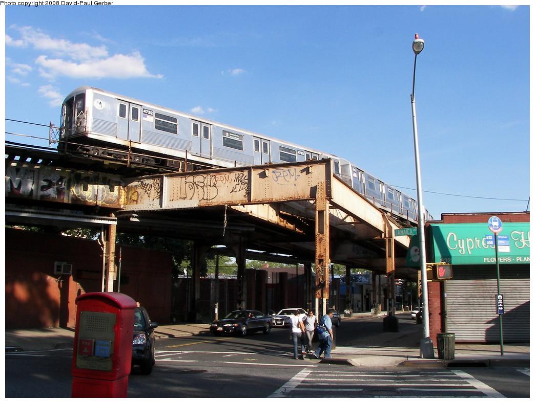(280k, 1044x788)<br><b>Country:</b> United States<br><b>City:</b> New York<br><b>System:</b> New York City Transit<br><b>Line:</b> BMT Nassau Street/Jamaica Line<br><b>Location:</b> Cypress Hills <br><b>Route:</b> Z<br><b>Car:</b> R-42 (St. Louis, 1969-1970)  4732 <br><b>Photo by:</b> David-Paul Gerber<br><b>Date:</b> 6/11/2008<br><b>Viewed (this week/total):</b> 2 / 3859