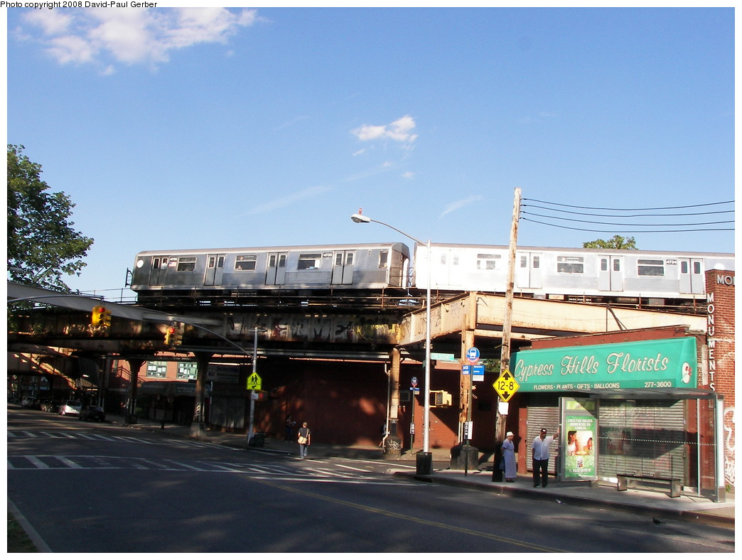 (267k, 1044x788)<br><b>Country:</b> United States<br><b>City:</b> New York<br><b>System:</b> New York City Transit<br><b>Line:</b> BMT Nassau Street/Jamaica Line<br><b>Location:</b> Cypress Hills <br><b>Route:</b> J<br><b>Car:</b> R-42 (St. Louis, 1969-1970)  4735 <br><b>Photo by:</b> David-Paul Gerber<br><b>Date:</b> 6/11/2008<br><b>Viewed (this week/total):</b> 0 / 2506