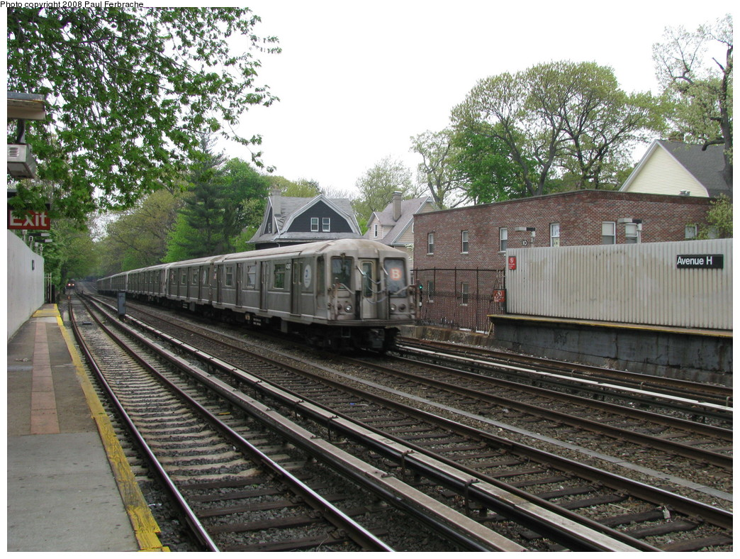 (316k, 1044x788)<br><b>Country:</b> United States<br><b>City:</b> New York<br><b>System:</b> New York City Transit<br><b>Line:</b> BMT Brighton Line<br><b>Location:</b> Avenue H <br><b>Route:</b> B<br><b>Car:</b> R-40 (St. Louis, 1968)  4347 <br><b>Photo by:</b> Paul Ferbrache<br><b>Date:</b> 5/2/2008<br><b>Viewed (this week/total):</b> 0 / 1621