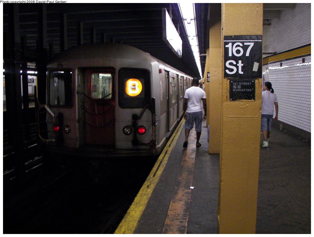 (257k, 1044x788)<br><b>Country:</b> United States<br><b>City:</b> New York<br><b>System:</b> New York City Transit<br><b>Line:</b> IND Concourse Line<br><b>Location:</b> 167th Street <br><b>Route:</b> B<br><b>Car:</b> R-40M (St. Louis, 1969)  4451 <br><b>Photo by:</b> David-Paul Gerber<br><b>Date:</b> 6/9/2008<br><b>Viewed (this week/total):</b> 4 / 3177