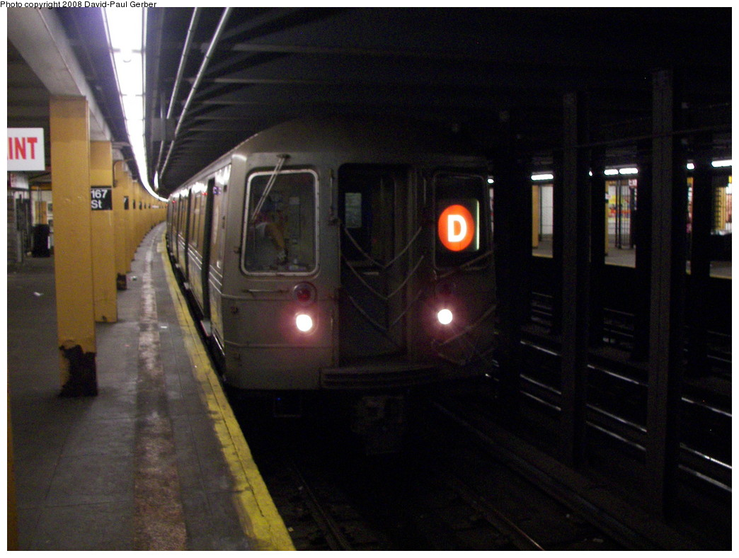 (246k, 1044x788)<br><b>Country:</b> United States<br><b>City:</b> New York<br><b>System:</b> New York City Transit<br><b>Line:</b> IND Concourse Line<br><b>Location:</b> 167th Street <br><b>Route:</b> D<br><b>Car:</b> R-68 (Westinghouse-Amrail, 1986-1988)  2656 <br><b>Photo by:</b> David-Paul Gerber<br><b>Date:</b> 6/9/2008<br><b>Viewed (this week/total):</b> 1 / 2426