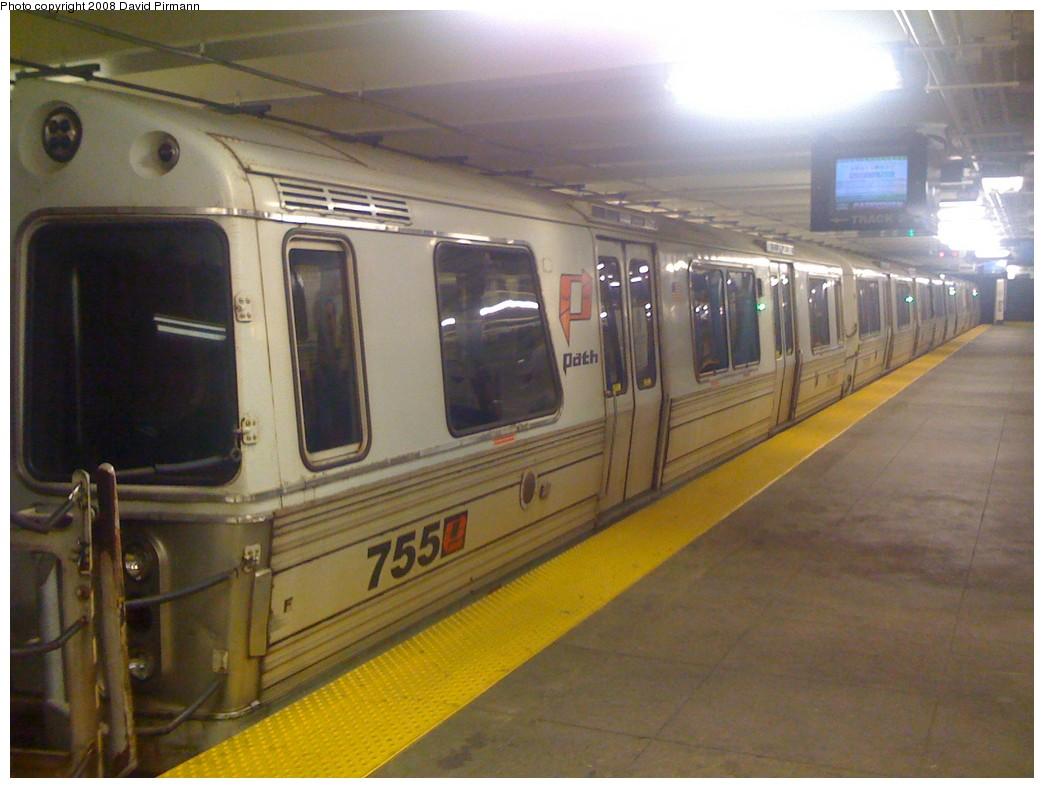 (179k, 1044x788)<br><b>Country:</b> United States<br><b>City:</b> New York<br><b>System:</b> PATH<br><b>Location:</b> 33rd Street <br><b>Car:</b> PATH PA-3 (Hawker-Siddley, 1972)  755 <br><b>Photo by:</b> David Pirmann<br><b>Date:</b> 6/20/2008<br><b>Viewed (this week/total):</b> 1 / 1397