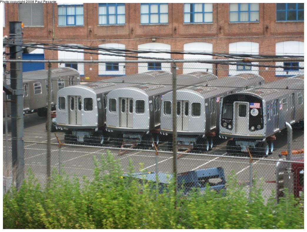 (259k, 1044x788)<br><b>Country:</b> United States<br><b>City:</b> New York<br><b>System:</b> New York City Transit<br><b>Location:</b> Kawasaki Plant, Yonkers, NY<br><b>Car:</b> R-160B (Kawasaki, 2005-2008)   <br><b>Photo by:</b> Paul Pesante<br><b>Date:</b> 6/14/2008<br><b>Viewed (this week/total):</b> 0 / 1954
