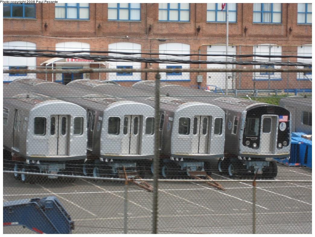 (238k, 1044x788)<br><b>Country:</b> United States<br><b>City:</b> New York<br><b>System:</b> New York City Transit<br><b>Location:</b> Kawasaki Plant, Yonkers, NY<br><b>Car:</b> R-160B (Option 1) (Kawasaki, 2008-2009)  9055/9058 <br><b>Photo by:</b> Paul Pesante<br><b>Date:</b> 6/14/2008<br><b>Viewed (this week/total):</b> 0 / 4523