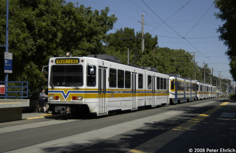(191k, 897x585)<br><b>Country:</b> United States<br><b>City:</b> Sacramento, CA<br><b>System:</b> SACRT Light Rail<br><b>Location:</b> 13th Street <br><b>Car:</b> Sacramento Siemens LRV  108 <br><b>Photo by:</b> Peter Ehrlich<br><b>Date:</b> 5/16/2008<br><b>Notes:</b> Inbound train at 13th St.<br><b>Viewed (this week/total):</b> 3 / 740