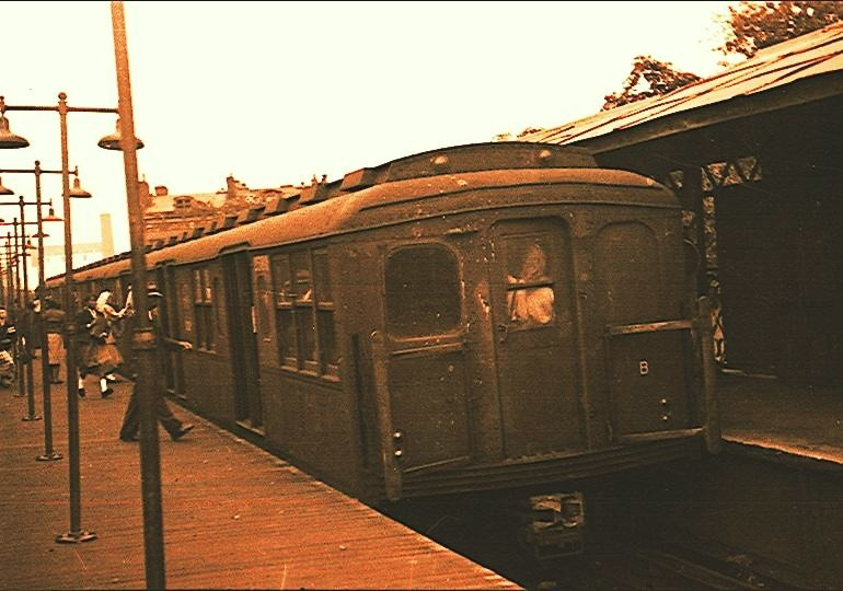 (105k, 770x540)<br><b>Country:</b> United States<br><b>City:</b> New York<br><b>System:</b> New York City Transit<br><b>Line:</b> BMT Franklin<br><b>Location:</b> Franklin Avenue <br><b>Car:</b> BMT A/B-Type Standard  <br><b>Photo by:</b> Brian J. Cudahy<br><b>Notes:</b> Circa 1954-58.<br><b>Viewed (this week/total):</b> 1 / 2257