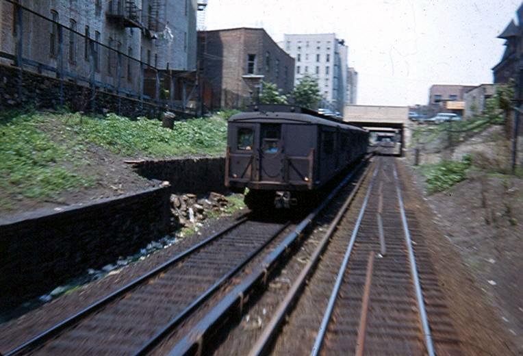 (115k, 764x520)<br><b>Country:</b> United States<br><b>City:</b> New York<br><b>System:</b> New York City Transit<br><b>Line:</b> BMT Franklin<br><b>Location:</b> Botanic Garden <br><b>Route:</b> Franklin Shuttle<br><b>Car:</b> BMT-SIRT  <br><b>Photo by:</b> Brian J. Cudahy<br><b>Notes:</b> Circa 1954-58.<br><b>Viewed (this week/total):</b> 1 / 2738