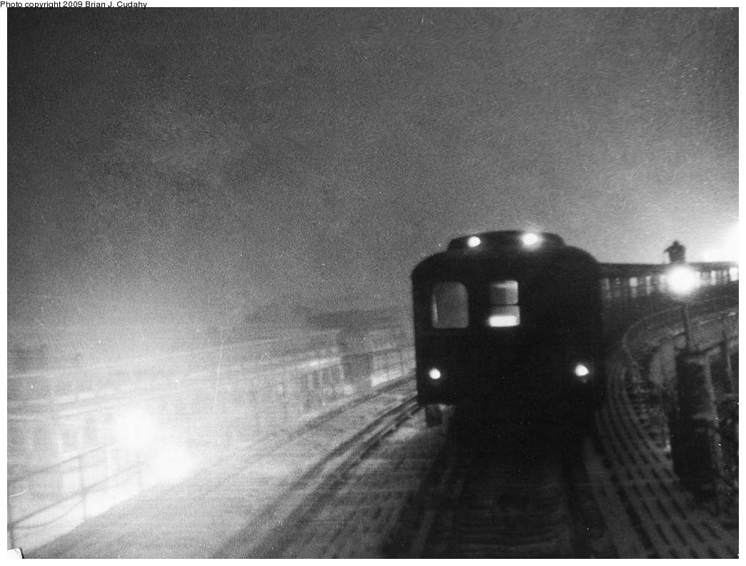 (224k, 1044x793)<br><b>Country:</b> United States<br><b>City:</b> New York<br><b>System:</b> New York City Transit<br><b>Line:</b> BMT Brighton Line<br><b>Location:</b> West 8th Street <br><b>Car:</b> BMT A/B-Type Standard  <br><b>Photo by:</b> Brian J. Cudahy<br><b>Notes:</b> Circa 1954-58. ABs on the upper level approaching Stillwell Avenue are operating in Brighton-Franklin service.<br><b>Viewed (this week/total):</b> 0 / 2658