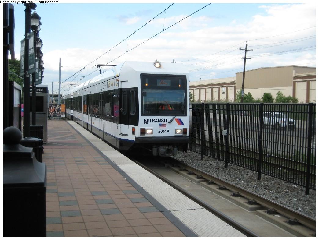 (200k, 1044x788)<br><b>Country:</b> United States<br><b>City:</b> Bayonne, NJ<br><b>System:</b> Hudson Bergen Light Rail<br><b>Location:</b> East 45th Street <br><b>Car:</b> NJT-HBLR LRV (Kinki-Sharyo, 1998-99)  2014 <br><b>Photo by:</b> Paul Pesante<br><b>Date:</b> 6/19/2008<br><b>Viewed (this week/total):</b> 0 / 816