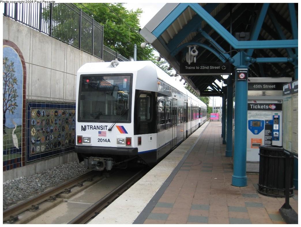 (230k, 1044x788)<br><b>Country:</b> United States<br><b>City:</b> Bayonne, NJ<br><b>System:</b> Hudson Bergen Light Rail<br><b>Location:</b> East 45th Street <br><b>Car:</b> NJT-HBLR LRV (Kinki-Sharyo, 1998-99)  2014 <br><b>Photo by:</b> Paul Pesante<br><b>Date:</b> 6/19/2008<br><b>Viewed (this week/total):</b> 0 / 726