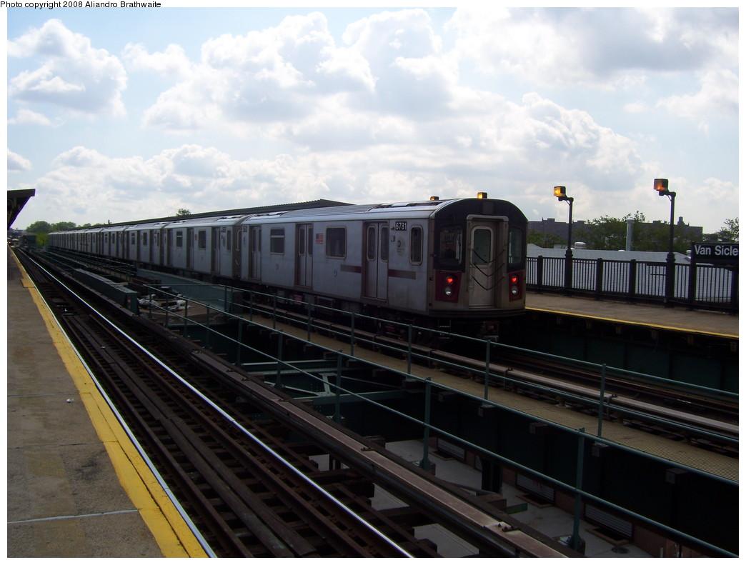 (199k, 1044x791)<br><b>Country:</b> United States<br><b>City:</b> New York<br><b>System:</b> New York City Transit<br><b>Line:</b> IRT Brooklyn Line<br><b>Location:</b> Van Siclen Avenue <br><b>Car:</b> R-142 (Primary Order, Bombardier, 1999-2002)  6781 <br><b>Photo by:</b> Aliandro Brathwaite<br><b>Date:</b> 6/19/2008<br><b>Viewed (this week/total):</b> 2 / 3022