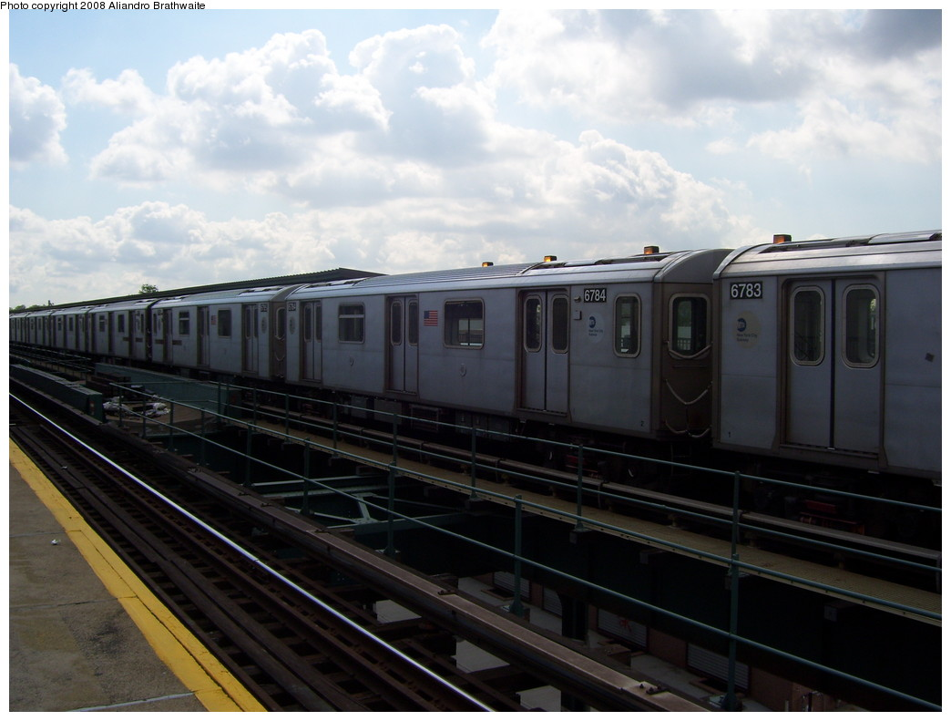 (182k, 1044x791)<br><b>Country:</b> United States<br><b>City:</b> New York<br><b>System:</b> New York City Transit<br><b>Line:</b> IRT Brooklyn Line<br><b>Location:</b> Van Siclen Avenue <br><b>Car:</b> R-142 (Primary Order, Bombardier, 1999-2002)  6783 <br><b>Photo by:</b> Aliandro Brathwaite<br><b>Date:</b> 6/19/2008<br><b>Viewed (this week/total):</b> 0 / 2016