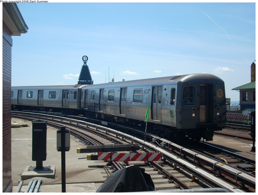 (235k, 1044x788)<br><b>Country:</b> United States<br><b>City:</b> New York<br><b>System:</b> New York City Transit<br><b>Location:</b> Coney Island/Stillwell Avenue<br><b>Route:</b> Q<br><b>Car:</b> R-68A (Kawasaki, 1988-1989)  5160 <br><b>Photo by:</b> Zach Summer<br><b>Date:</b> 6/25/2008<br><b>Viewed (this week/total):</b> 2 / 1687