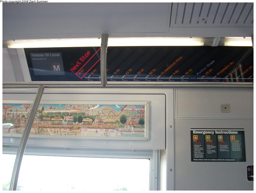 (189k, 1044x788)<br><b>Country:</b> United States<br><b>City:</b> New York<br><b>System:</b> New York City Transit<br><b>Route:</b> M<br><b>Car:</b> R-160A-1 (Alstom, 2005-2008, 4 car sets)  8529 <br><b>Photo by:</b> Zach Summer<br><b>Date:</b> 6/26/2008<br><b>Viewed (this week/total):</b> 0 / 1694