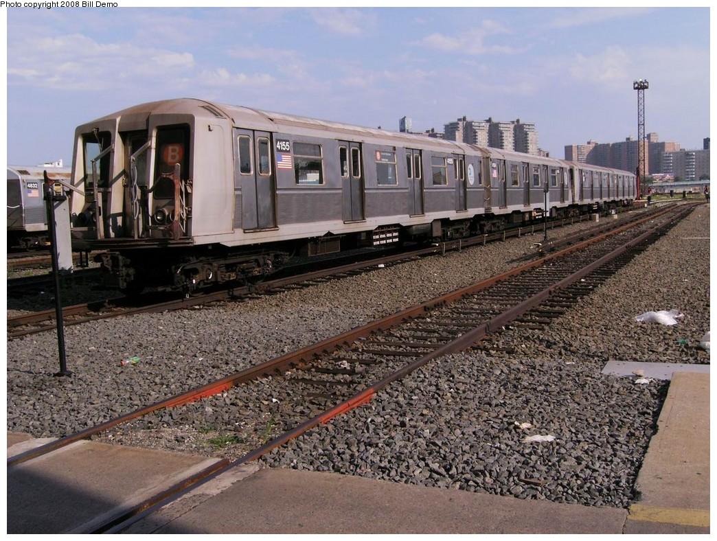 (269k, 1044x788)<br><b>Country:</b> United States<br><b>City:</b> New York<br><b>System:</b> New York City Transit<br><b>Location:</b> Coney Island Yard<br><b>Car:</b> R-40 (St. Louis, 1968)  4155 <br><b>Photo by:</b> Bill Demo<br><b>Date:</b> 7/1/2008<br><b>Viewed (this week/total):</b> 0 / 1525