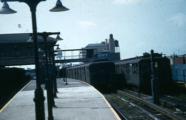 (99k, 744x481)<br><b>Country:</b> United States<br><b>City:</b> New York<br><b>System:</b> New York City Transit<br><b>Location:</b> Coney Island/Stillwell Avenue<br><b>Car:</b> BMT A/B-Type Standard  <br><b>Photo by:</b> Brian J. Cudahy<br><b>Date:</b> 1954<br><b>Notes:</b> Culver platform at Stillwell Ave.<br><b>Viewed (this week/total):</b> 0 / 1663